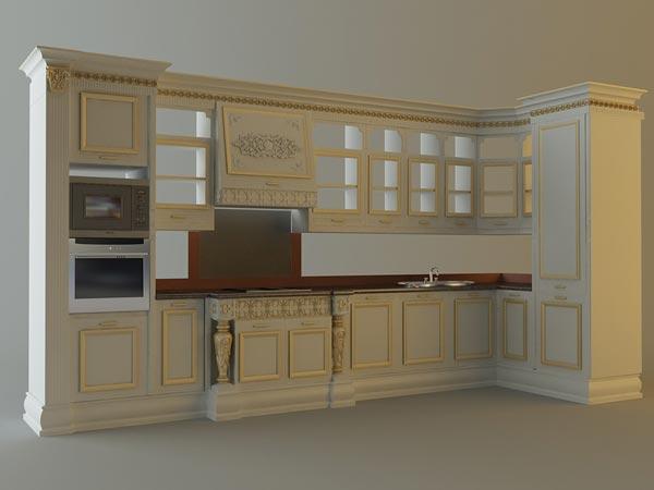 kitchen cabinets appliances 3d model - طراحی کابینت با تری دی مکس