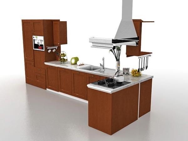 kitchen cabinets design 3d mode - طراحی کابینت با تری دی مکس