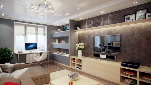 living room tv decorating deas - ایدهها و نکاتی دربارهی محل قرار گیری و دکور تلویزیون