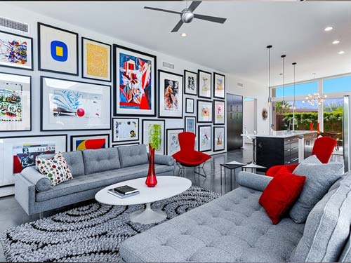 painting on the wall interior design - پنج نکتهی مفید برای انتخاب تابلو در دکوراسیون