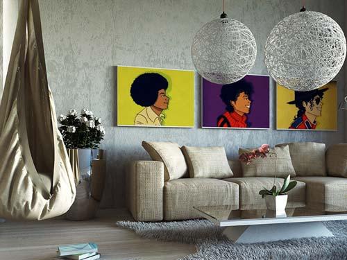 painting on wall works wonderfully - پنج نکتهی مفید برای انتخاب تابلو در دکوراسیون
