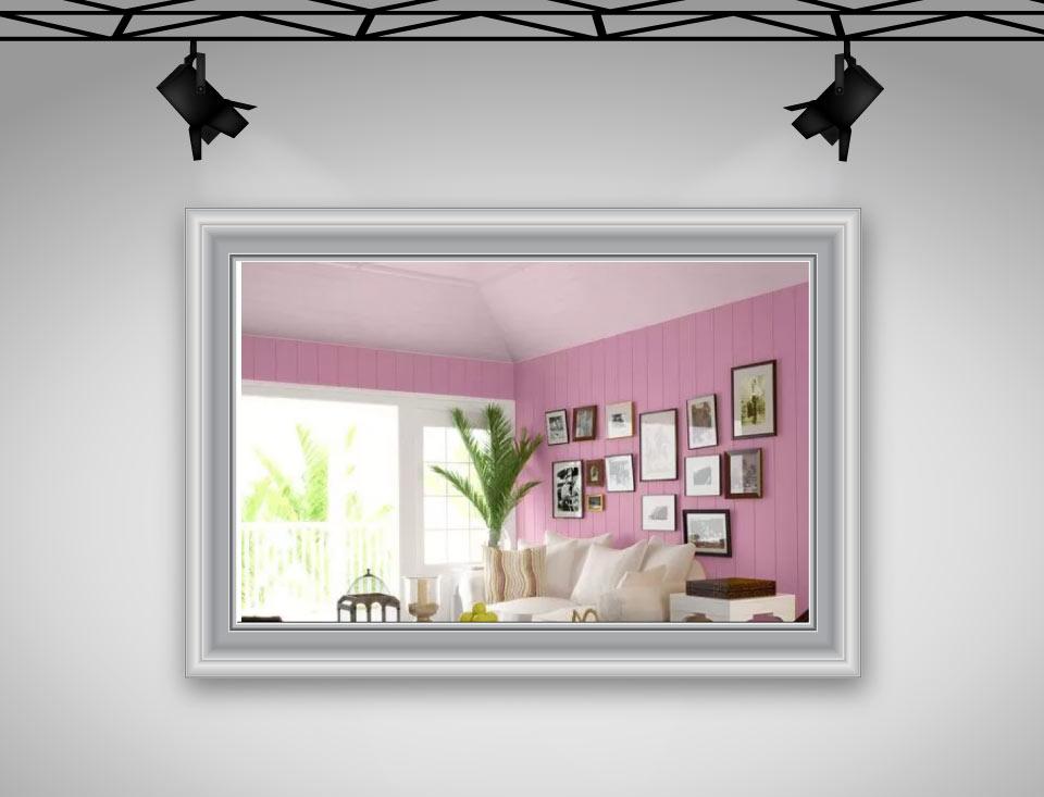 paste pink ceiling - رنگ سقف