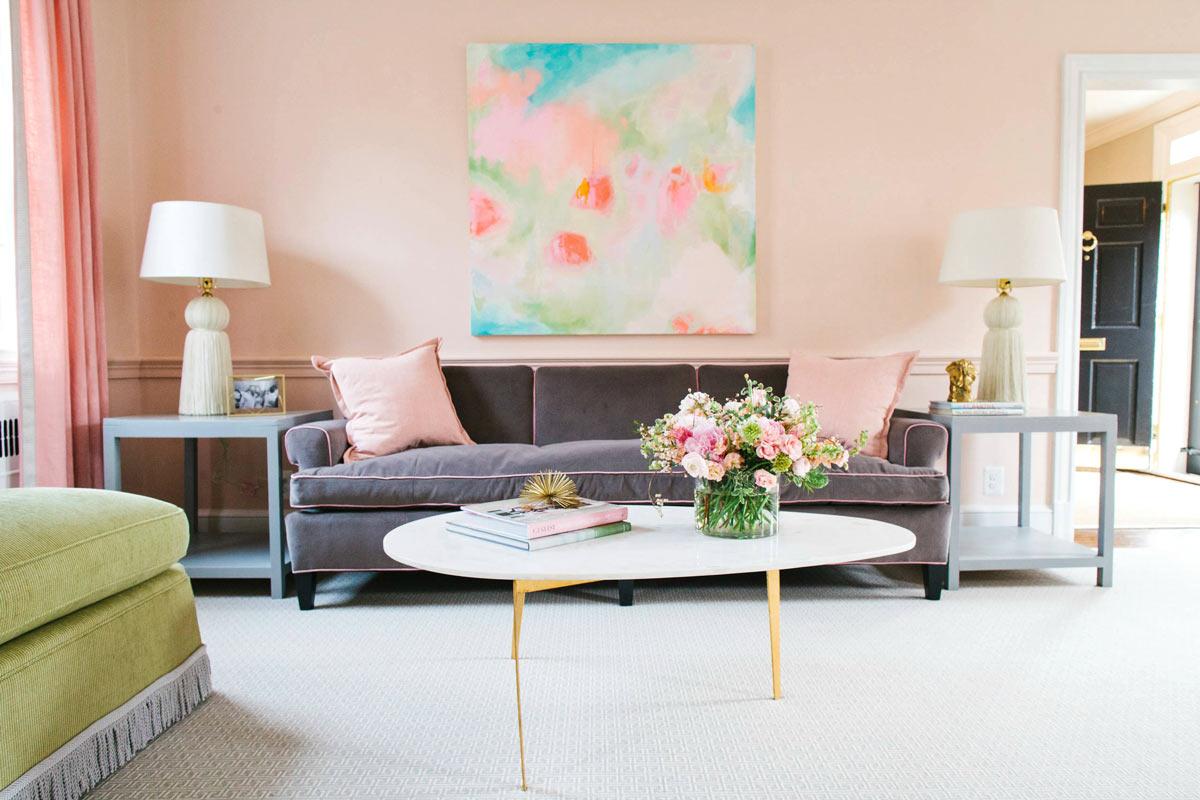 peach pink paste - بهترین رنگها برای اتاقهای رو به شمال، جنوب، شرق و غرب