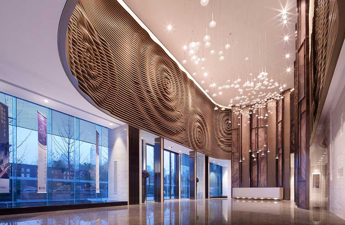 receptionarea - جزئیات مربوط به اجزای فضاهای داخلی