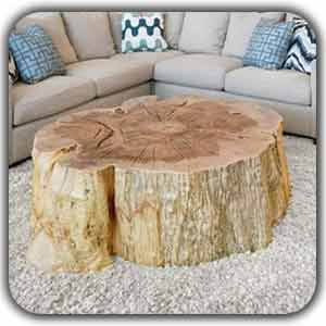 دکوراسیون با چوب خام