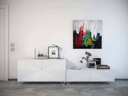 simple painting on the wall - پنج نکتهی مفید برای انتخاب تابلو در دکوراسیون