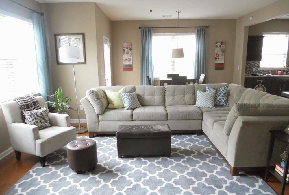 sofa on the rug - آیا چیدمان مبل را درست انجام می دهید؟