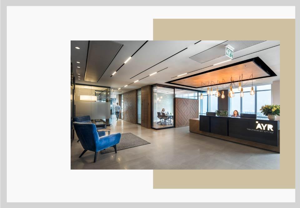 Comfy office lobby design - نکاتی برای طراحی فضای کار و افزایش بهره وری شما