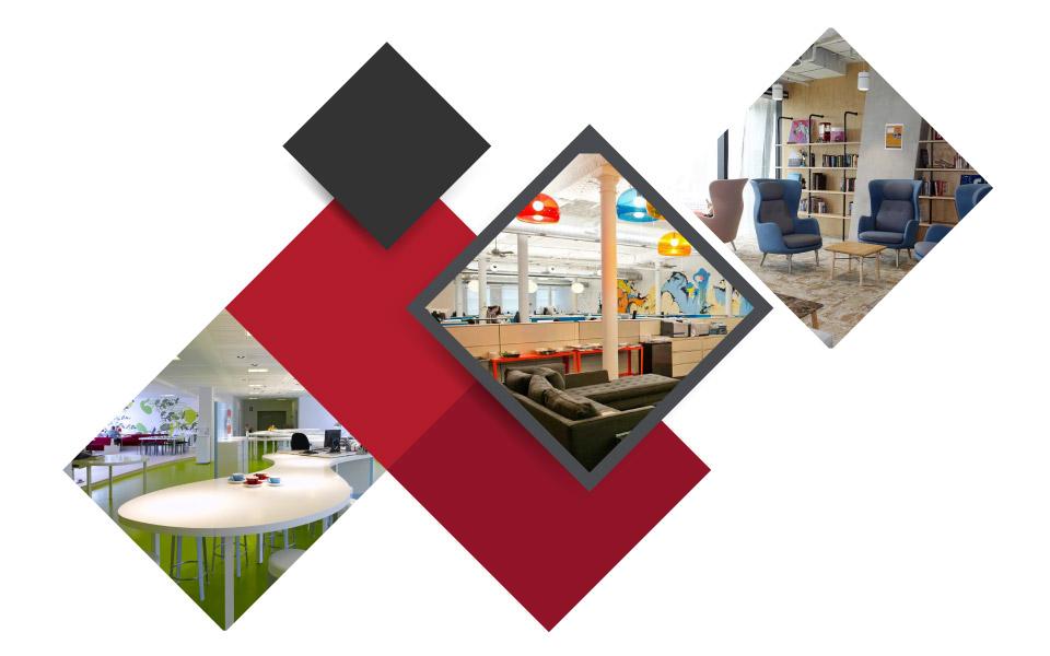 Lounge Areas office decoration - ۷ مفهوم نوین طراحی دکوراسیون داخلی محل کار برای جذب بهترین نیروی کار