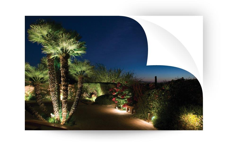 Uplighting yard - نورپردازی لنداسکیپ