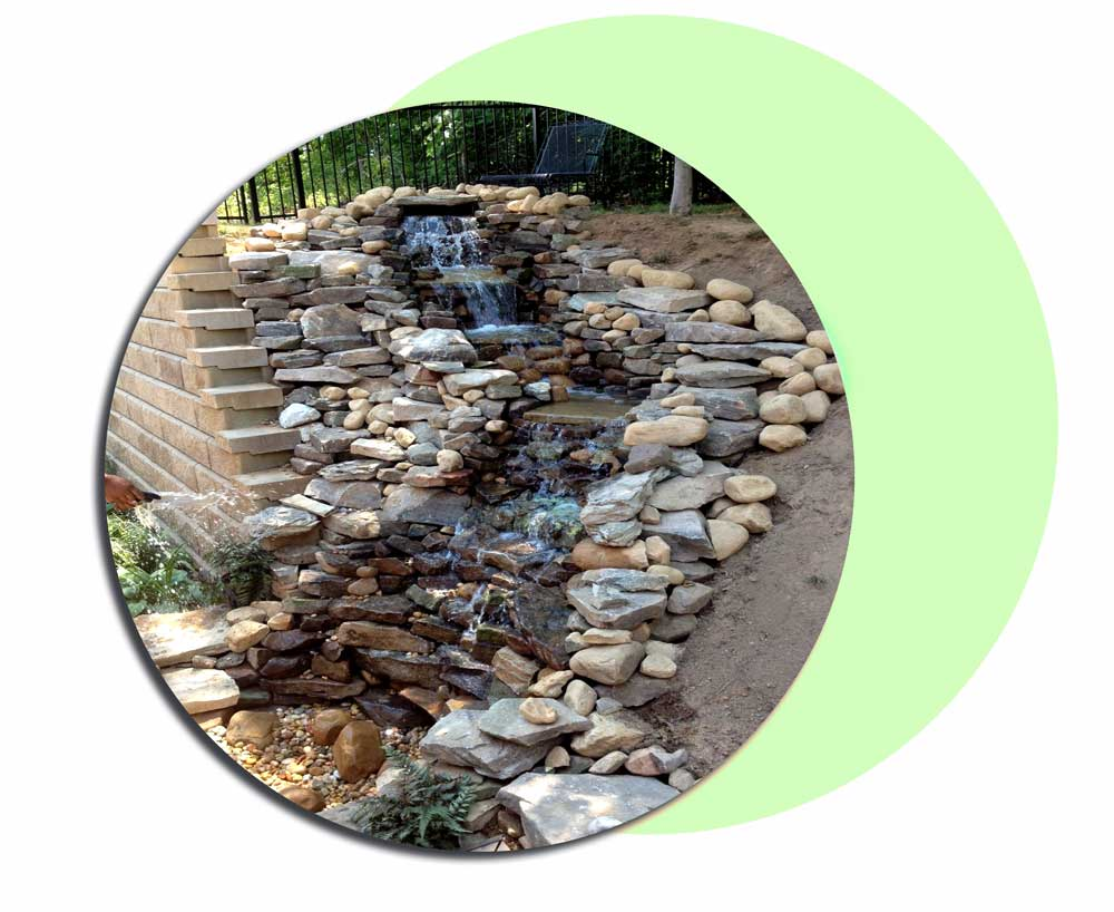abshar 9l5 - ساخت آبشار تزیینی ، آبنمای تزیینی