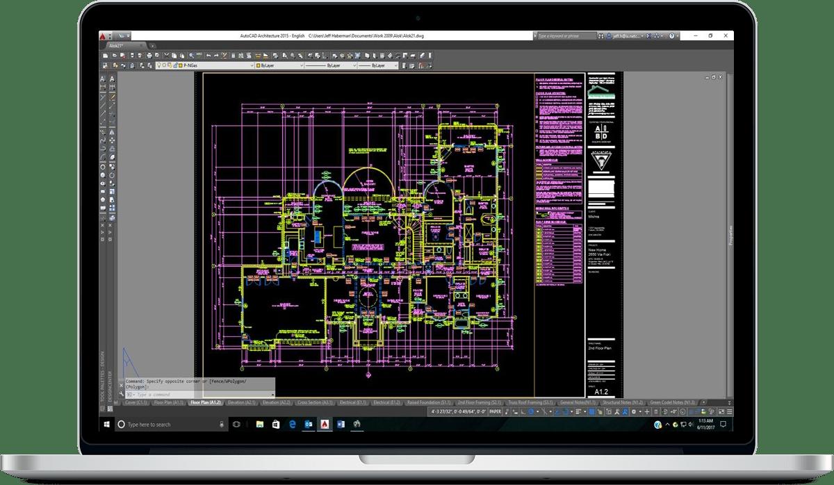 phase 2 autocad plan 3 - آموزش فاز ۲ معماری