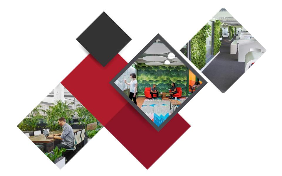 plants in office - ۷ مفهوم نوین طراحی دکوراسیون داخلی محل کار برای جذب بهترین نیروی کار