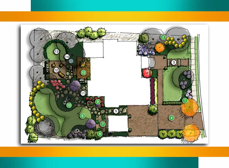 tarahi manzare b1r - مراحل طراحی منظر