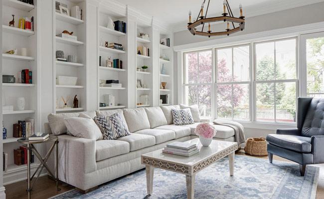 Living Room Sofa - چگونه می توان از اصول پایه طراحی داخلی برای تزئین خانه استفاده کرد