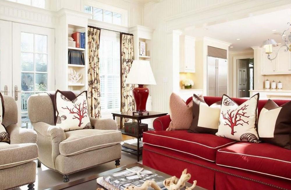 decorasion rang ghermez20 - رنگ قرمز در دکوراسیون داخلی
