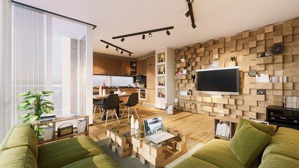 Living Room Wall Textures Ideas - چطور از بافت در طراحی داخلی استفاده کنید