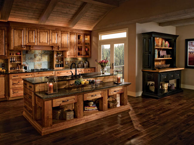 Rustic Kitchen - انواع درب کابینت