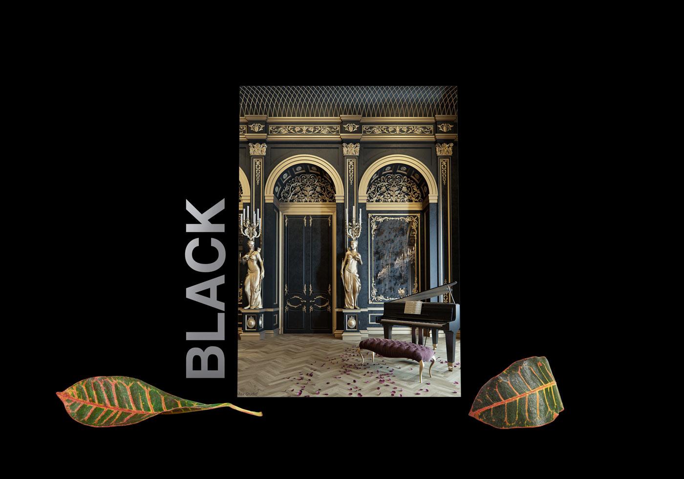 black interior design 1 - طبع یا مزاج رنگ ها در دکوراسیون داخلی