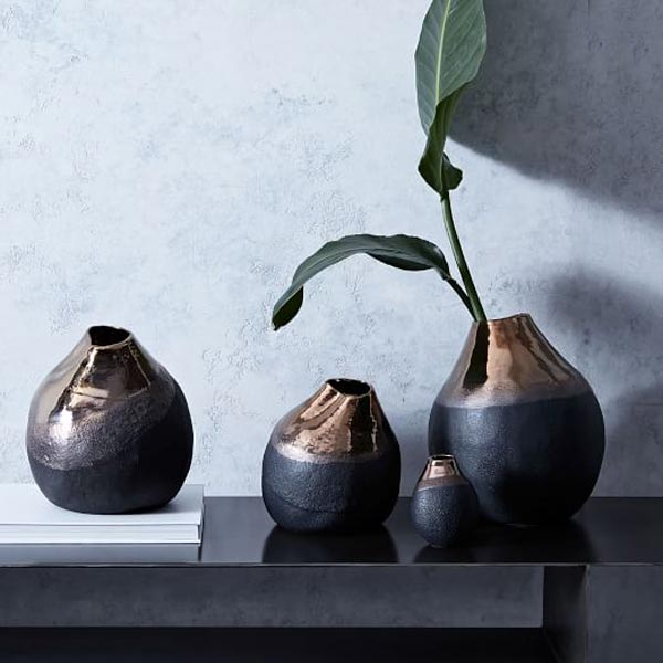 black vases - عنصر آب در فنگ شویی