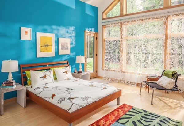 blue bedroom - عنصر آب در فنگ شویی