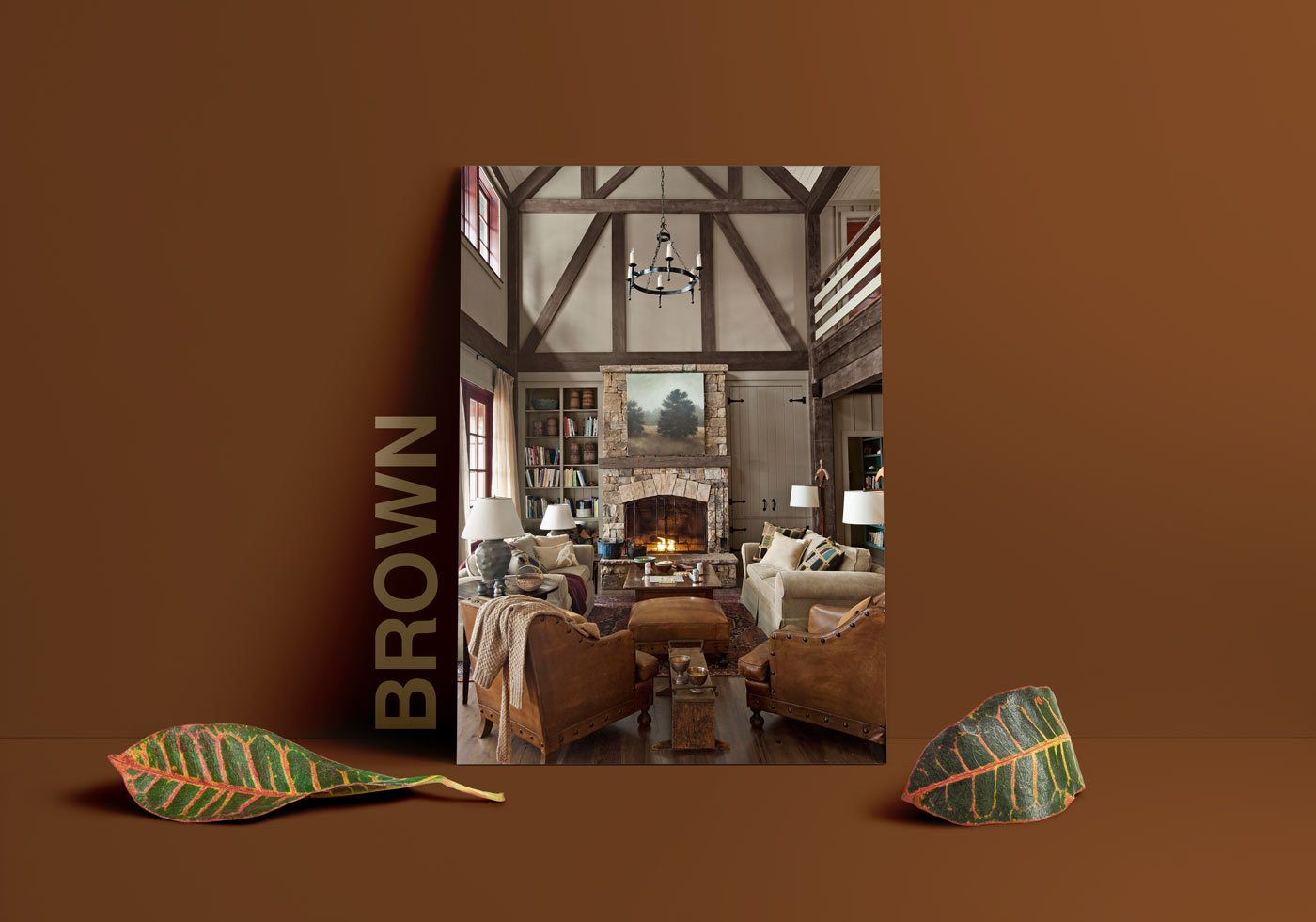 brown interior design - طبع یا مزاج رنگ ها در دکوراسیون داخلی
