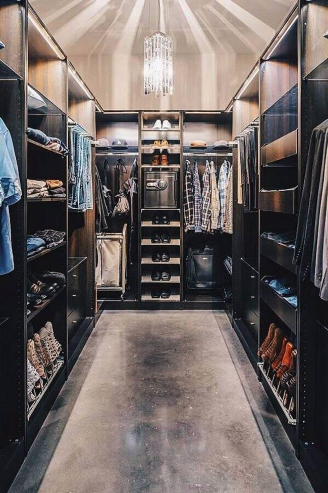 closet design luxury - کلوزت یا اتاق مخصوص لباس