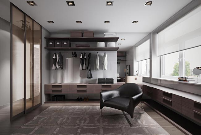 closet with chair - کلوزت یا اتاق مخصوص لباس