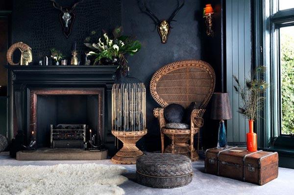 dark color inetrior - چطور از بافت در طراحی داخلی استفاده کنید