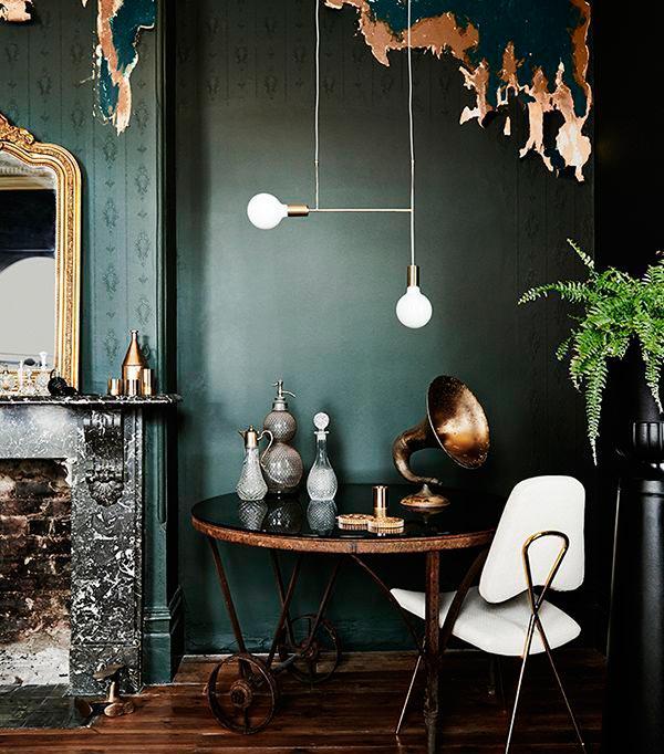 dark color texture - چطور از بافت در طراحی داخلی استفاده کنید