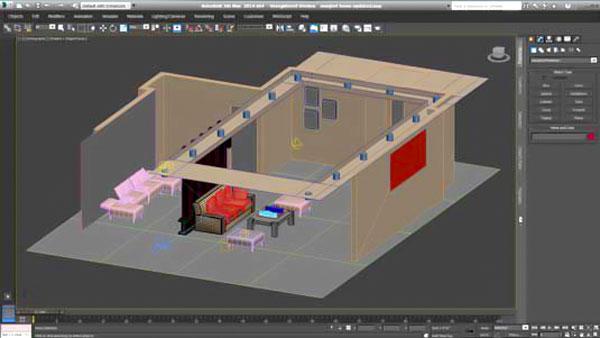 decorasion 3dmax render3 - چگونگی رندر طراحی داخلی در تری دی مکس