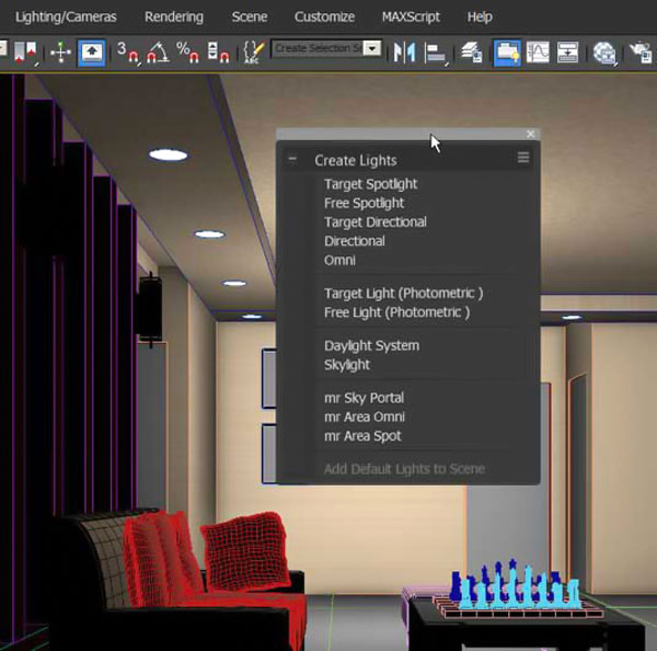 decorasion 3dmax render7 - چگونگی رندر طراحی داخلی در تری دی مکس
