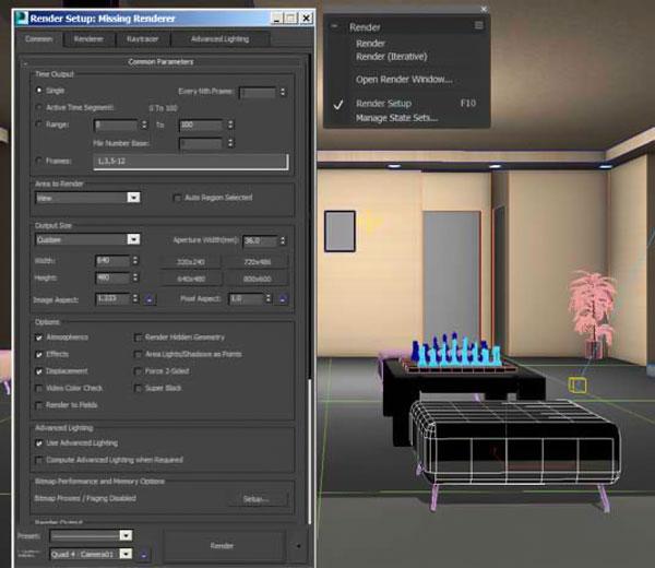 decorasion 3dmax render8 - چگونگی رندر طراحی داخلی در تری دی مکس