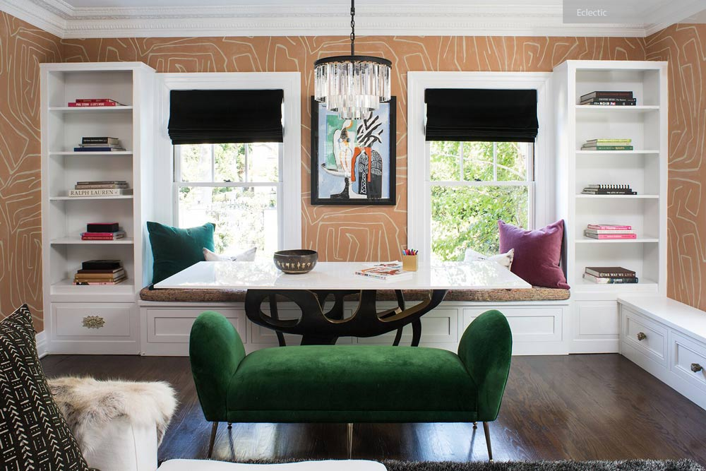 ellectic interior design - ۲۷ سبک طراحی داخلی در سال ۲۰۱۹