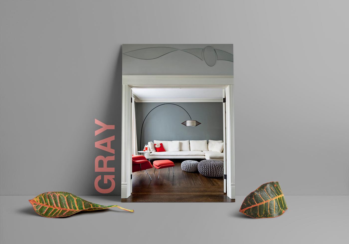 gray interior design 2 - طبع یا مزاج رنگ ها در دکوراسیون داخلی