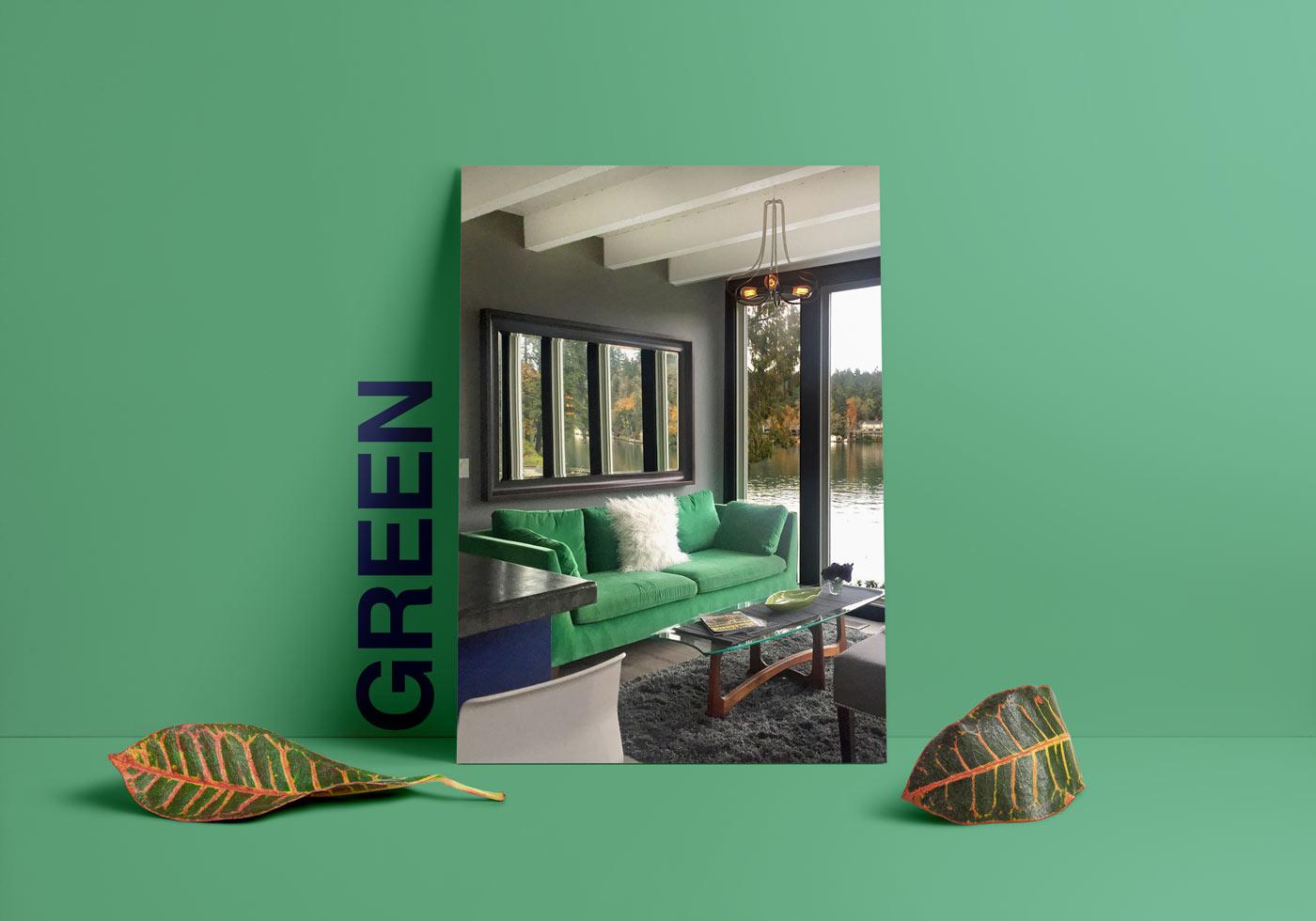 green interior design - طبع یا مزاج رنگ ها در دکوراسیون داخلی