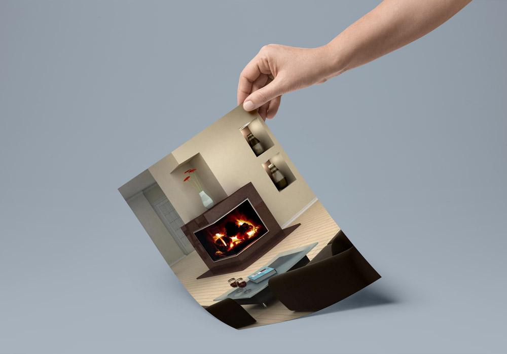 minimal fireplace - ۴ روش برای دکوراسیون اطراف شومینه