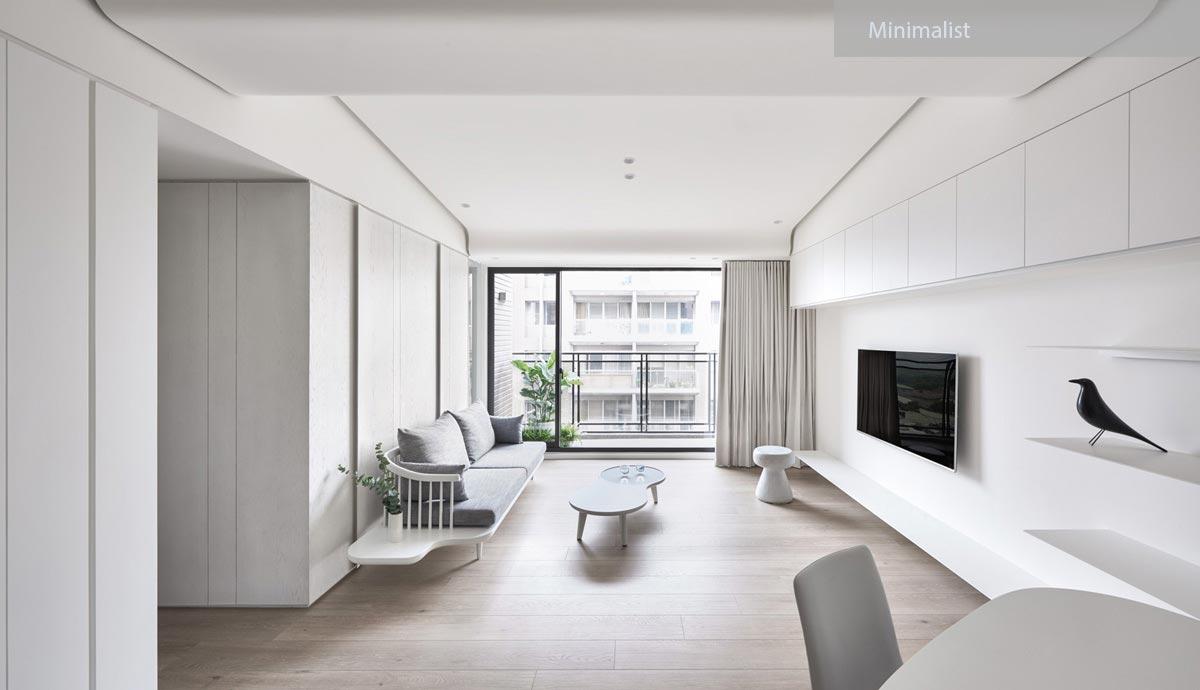 minimalist interior - ۲۷ سبک طراحی داخلی در سال ۲۰۱۹