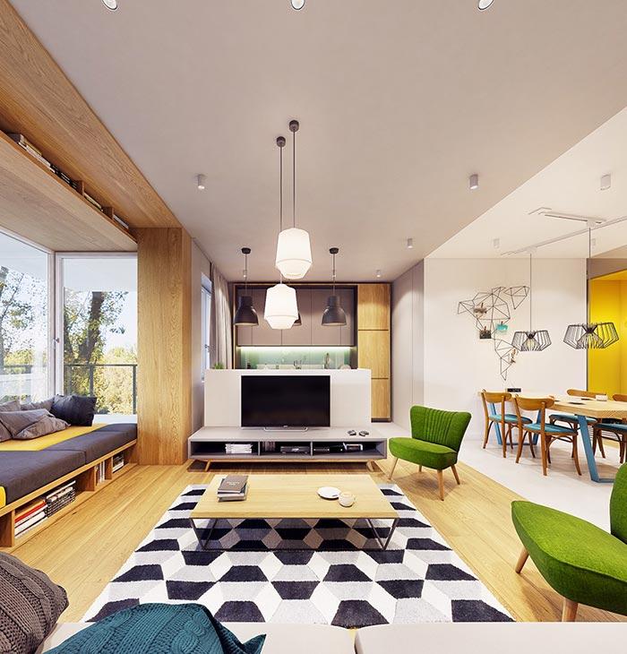 modern interior 4 - ویژگی ها و تفاوت طراحی داخلی مدرن و معاصر
