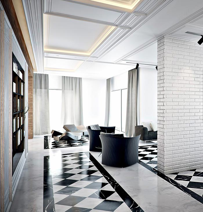 modern interior 6 - ویژگی ها و تفاوت طراحی داخلی مدرن و معاصر