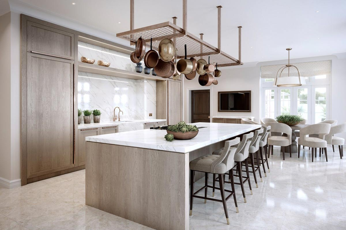modern kitchen - اصول طراحی آشپزخانه
