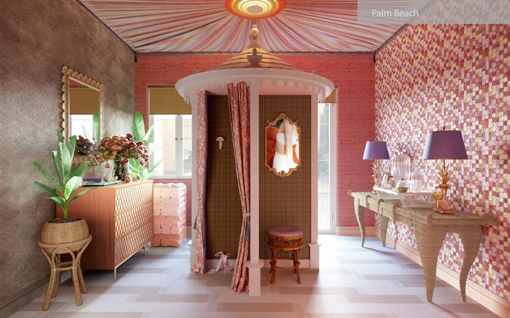 palm beach interior - ۲۷ سبک طراحی داخلی در سال ۲۰۱۹