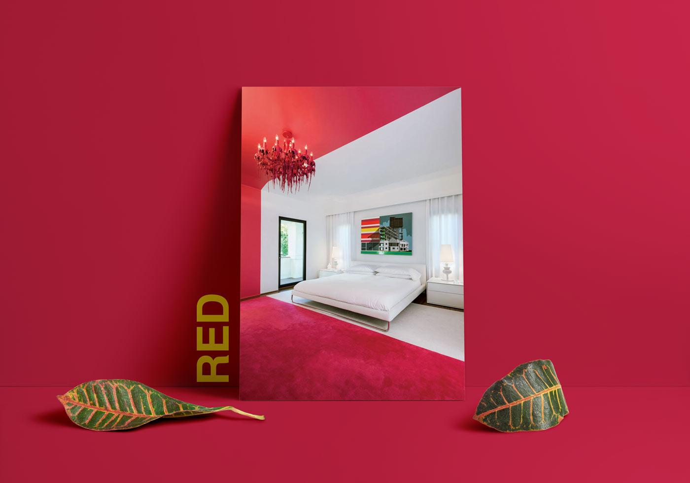 red interior design - طبع یا مزاج رنگ ها در دکوراسیون داخلی