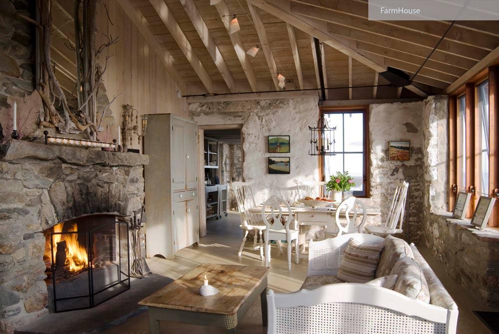 rustic country farmhouse - ۲۷ سبک طراحی داخلی در سال ۲۰۱۹