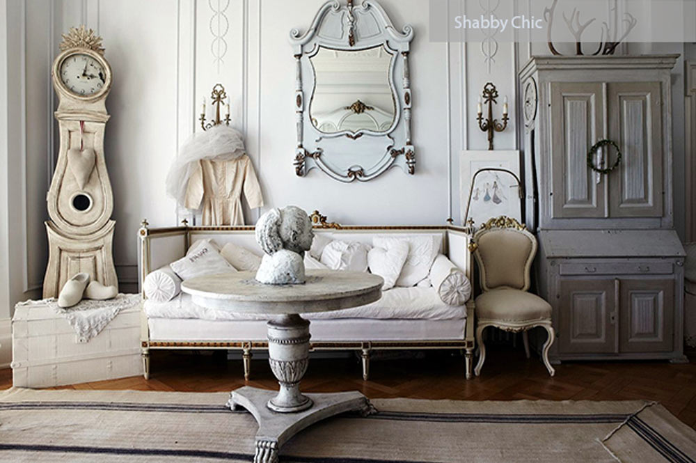 shabby chic luxury classic - ۲۷ سبک طراحی داخلی در سال ۲۰۱۹