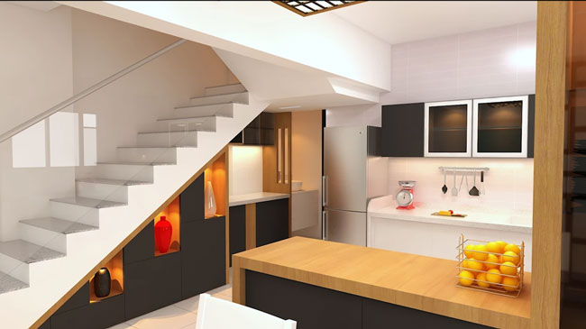 stairs interior design 4 - ایده ها، الهامات و تصاویر طراحی پلکان