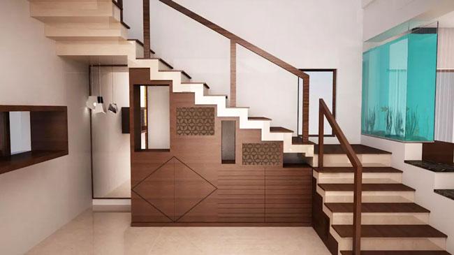 stairs interior design 7 - ایده ها، الهامات و تصاویر طراحی پلکان