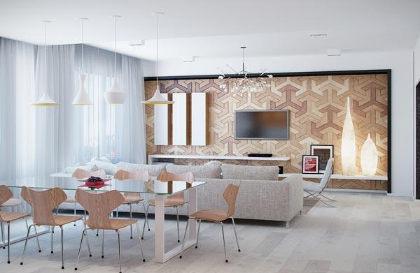 unique texture wall - چطور از بافت در طراحی داخلی استفاده کنید