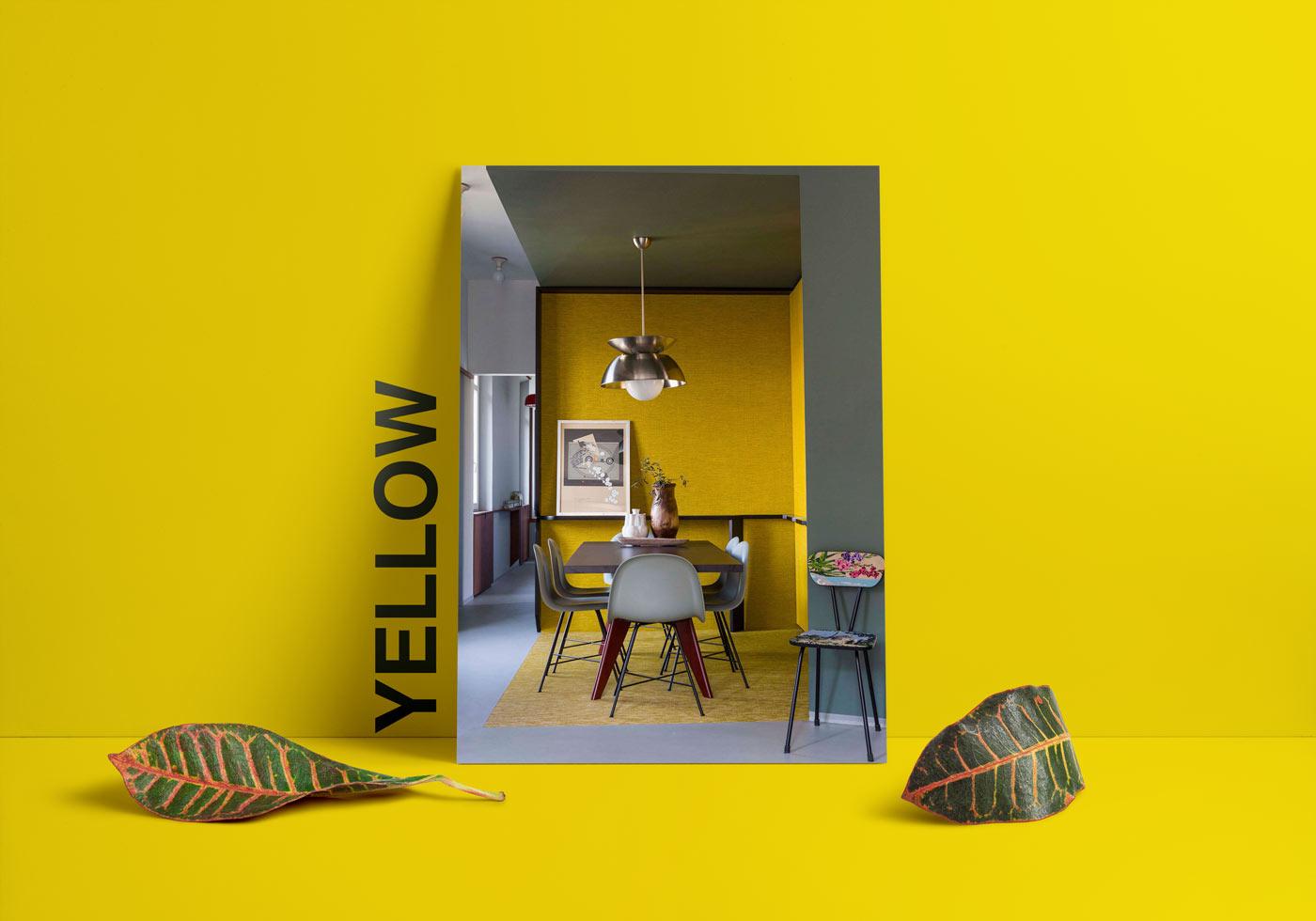 yellow blue interior design - طبع یا مزاج رنگ ها در دکوراسیون داخلی
